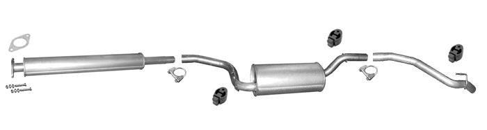 Endtopf Auspuff Schalldämpfer Auspuffanlage Abgasanlage Ford Sierra 1.6 1.8 2.0