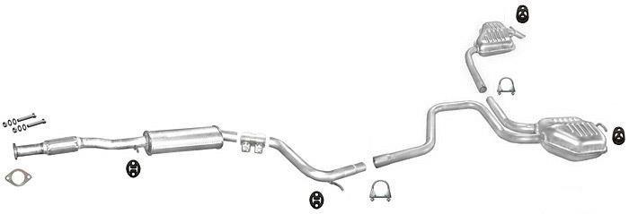 Ford Mondeo 2.5  24V V6 MITTELSCHALLDÄMPFER AUSPUFF