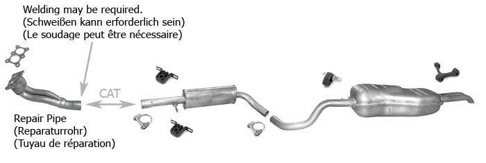 VW TOURAN 1.6 115PS 2003-2007 Endtopf Auspuff