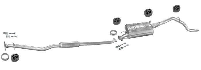 Mittelschalldämpfer Auspuff Subaru Justy 5-Tür