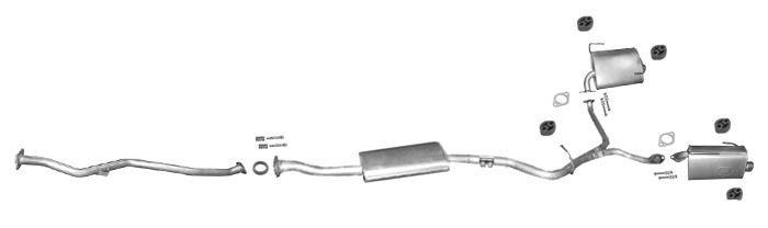 Mittelschalldämpfer Subaru Legacy III 2.0 2.5 Outback 2.5 Auspuff