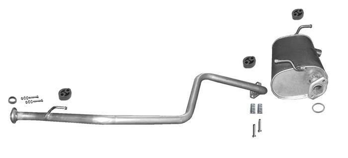 Auspuffanlage für Suzuki Jimny 1.3 80//82PS 1998-2004