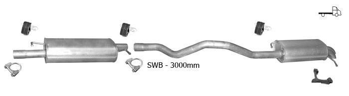 Auspuff VW T5 TRANSPORTER V 2.0 PRITSCHE LWB-Lang 2003-2009 Auspuffanlage R46
