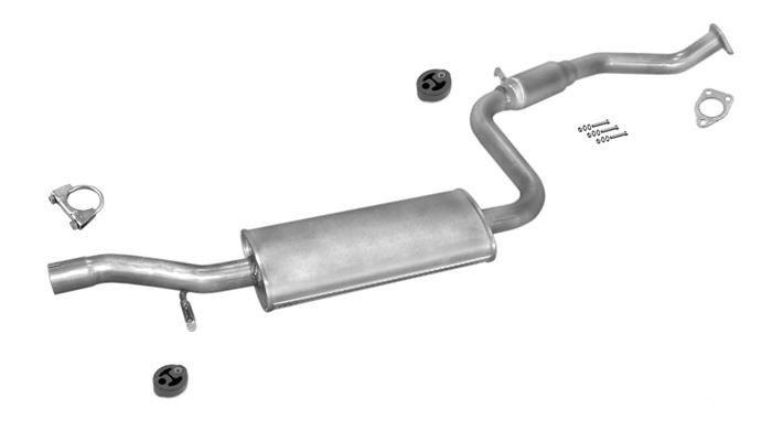 Endschalldämpfer Volvo C30 // S40 II // V50-1.8 //2.0 AUSPUFFANLAGE Mittel